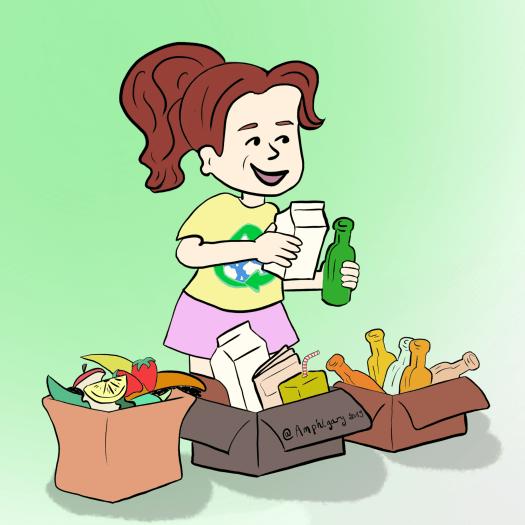 Le potager <br>Tri des déchets et compostage <br>en maternelle